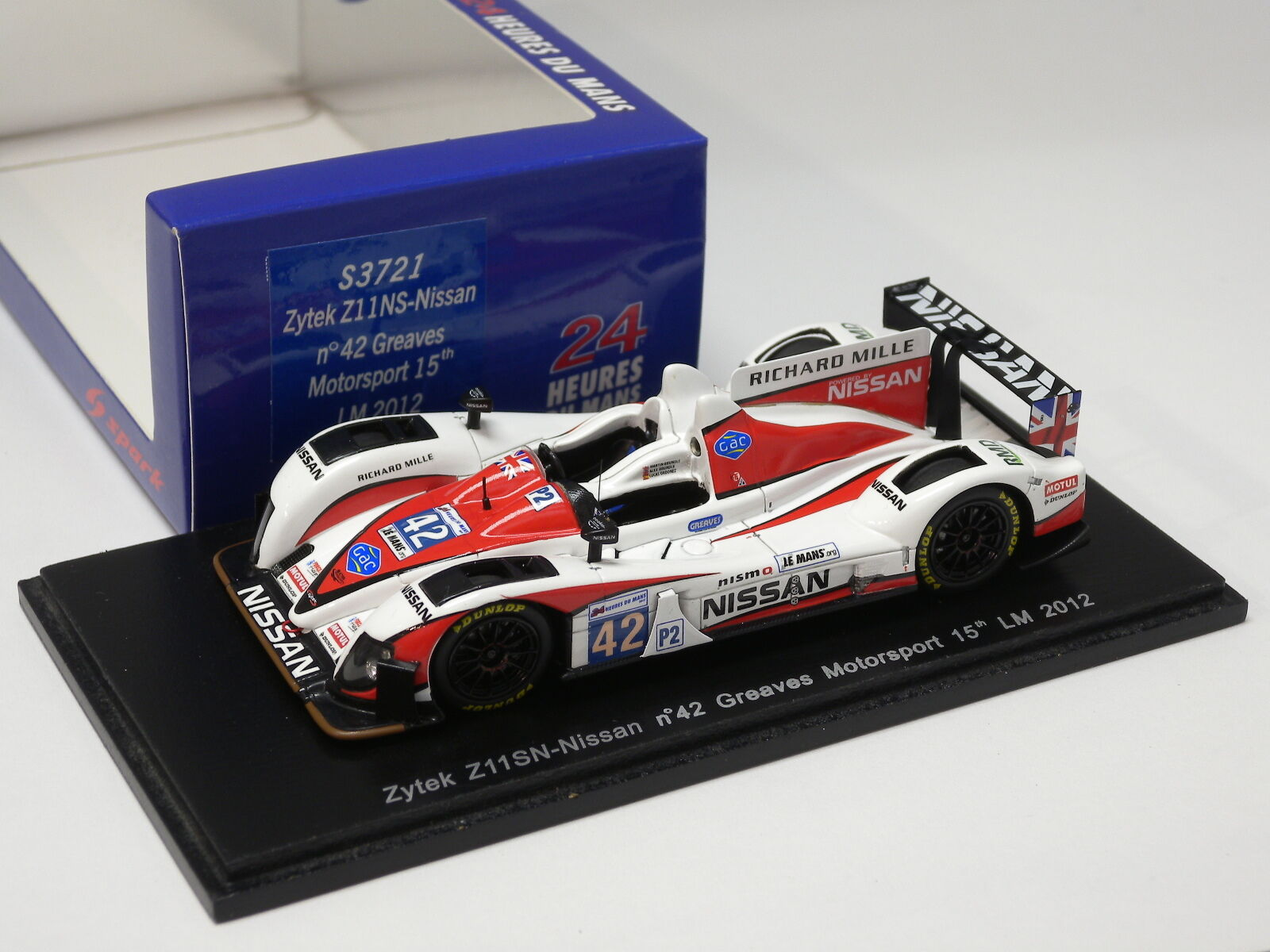 en promociones de estadios Zytek Z11NS-Nissan, No.42, Greaves Motosport, Le Mans 2012 Spark Spark Spark 1 43 S3721  opciones a bajo precio