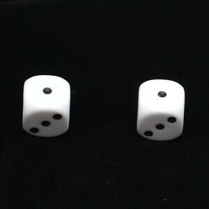 1-Pair-of-White-Dice-Dust-Caps-Snake-Eyes-for-BMX-80-039-s-Retro-Valve-Caps
