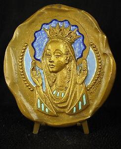 * Médaille 667g émaillée Religious Vierge-marie Virgin-maria Ctschudin Medal 铜牌 Rendre Les Choses Pratiques Pour Les Clients