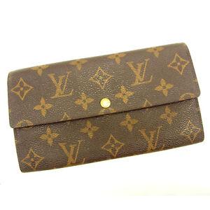 Louis-Vuitton-Wallet-Purse-Monogram-Brown-Woman-unisex-Authentic-Used-Y6261