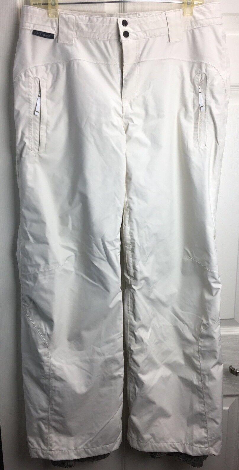 NWOT Merrill Sz M Ivory Opti-Shell WATERPROOF Vented Ski Snow Snowboard Pants