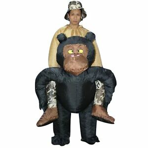 Inflatable-Adult-Chimp-Chimpanzee-Monkey-Gorilla-Ape-Fancy-Dress-Costume-Outfit