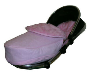 Universal Footmuff to Fit Silver Cross Pushchair Pram Buggy Light Pink