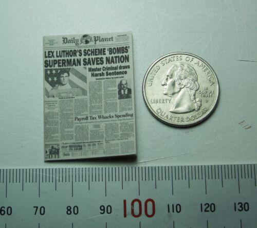 1//10 ou échelle 1//12 Superman Clark Kent Daily Planet Journal custom
