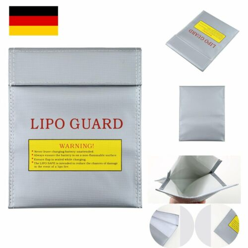 Lipo Akku Tasche Safe Bag 18x23cm Feuerfest Sicherheitstasche Guard FeuerschJ6