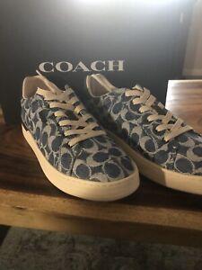 COACH Women's Lowline Sneakers Denim ❤️