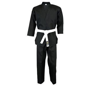 Playwell-Instructor-V-Ausschnitt-Uniform-Schwarz-Kinder-Gi-Anzug-Freestyle