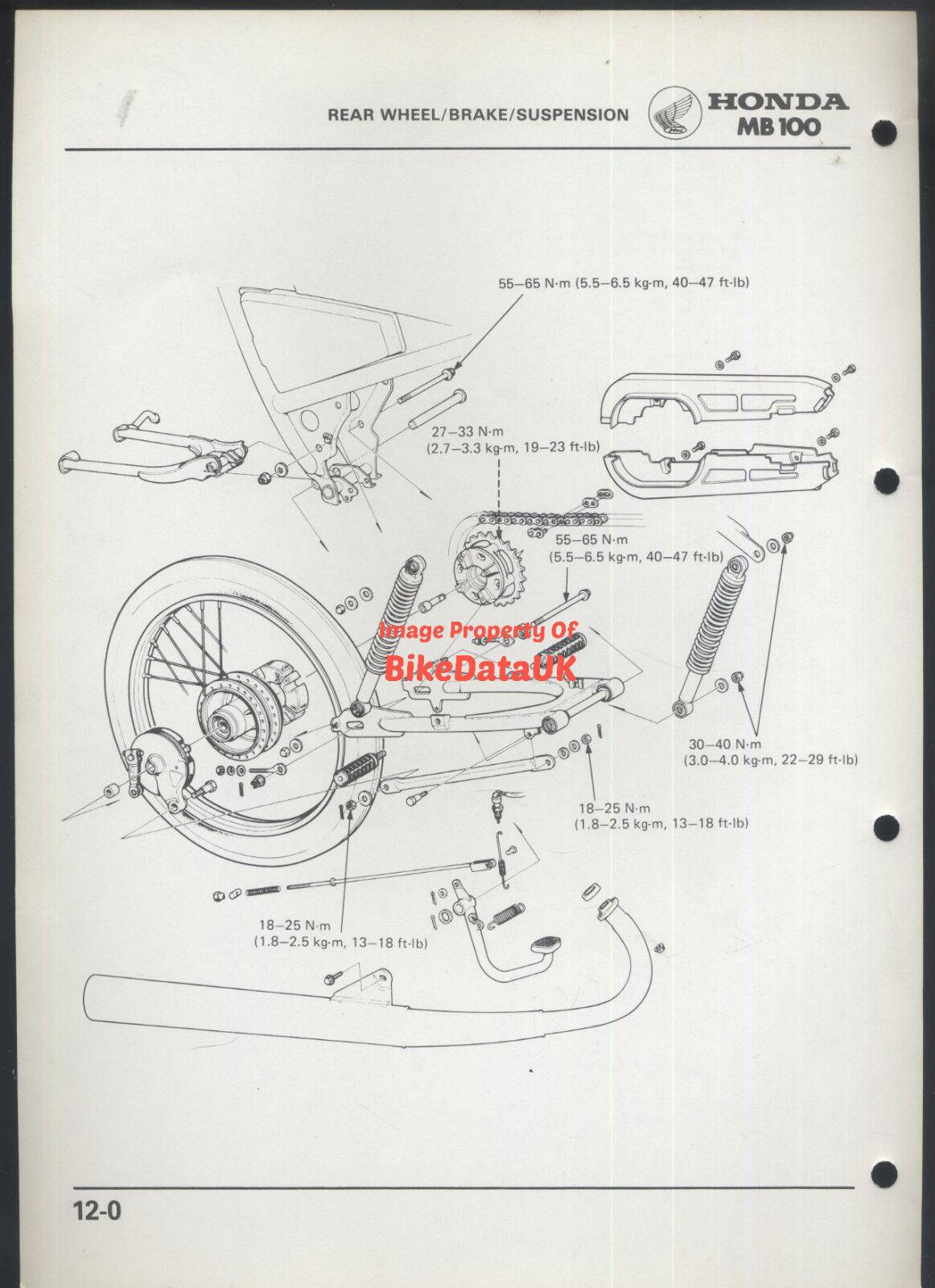 Honda H100a 1980 Official Factory Shop Manual H Mb 100 Ha01 Pre Wiring Diagram H100 H100s Am77 Ebay