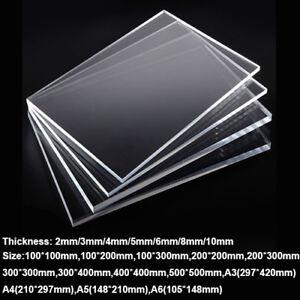 2pcs 3mm A5 Size Clear Plastic Acrylic Plexiglass Perspex Sheet