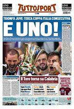TUTTOSPORT 18/05/2017 JUVENTUS VS LAZIO 2-0 WINNER COPPA ITALIA 2016/2017 JUVE