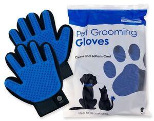 UPGRADED-PAIR-Pet-Grooming-Gloves-Brush-Dog-Cat-Fur-Hair-Removal-Mitt-Massage