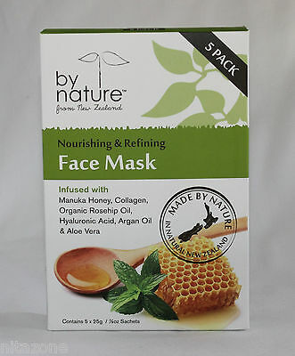 by nature Nourishing & Firming Face Mask with Manuka Honey - 5 pack