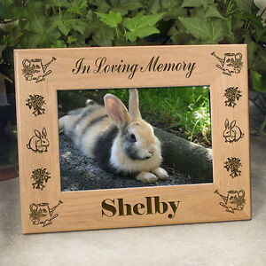Personalized Rabbit Memorial Frame - In Loving Memory