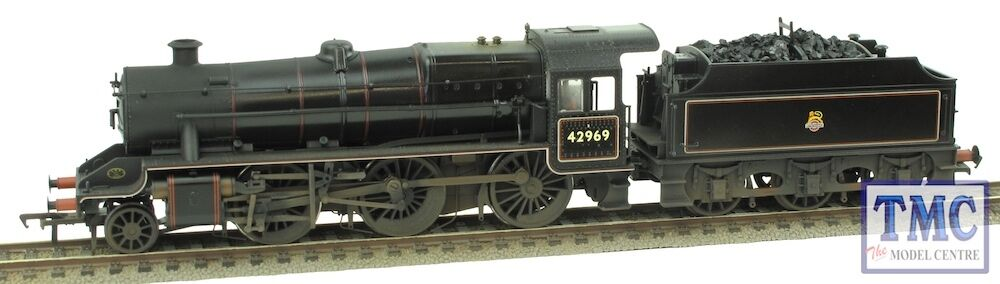 31-691 Bachmann OO Gauge LMS Stanier Mogul 42969 B Real Coal Glossed & Weathered