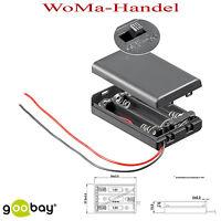 Batteriehalter , 3x Micro aaa - Mit Anschlusskabel Und Schalter, Rc (77)