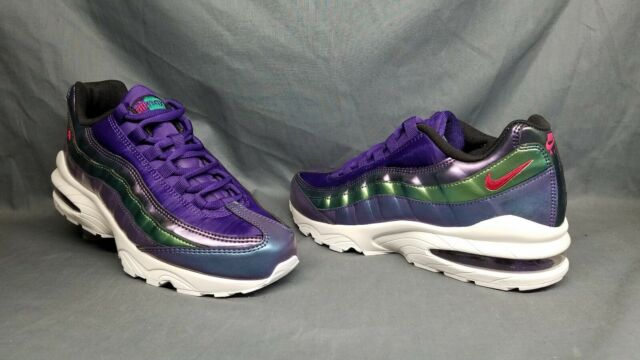 newest 41737 ef203 Nike Air Max 95 (GS) Athletic Sneakers Purple Pink Green Girls Size 6.5  NWOB!