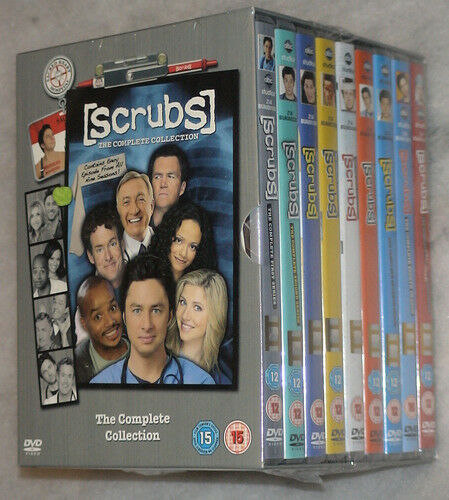 Scrubs - Temporada 1 2 3 4 5 6 7 8 9 Completo DVD Caja Juego GB Región 2 Nuevo y