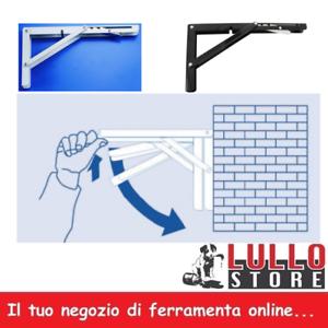 REGGIMENSOLA ACCIAIO ZINCATO REGGI MENSOLE REGOLABILE 3 POSIZIONI 2 COLORI
