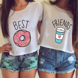 T-shirt-Funny-Best-Friends-T-Shirt-Donut-And-Coffee-Flowy-Print-Tees-Couple-LJ
