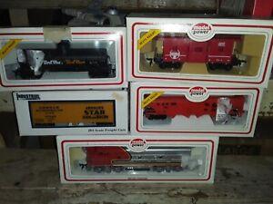 Modelo-Vintage-Ciencia-Ficcion-Power-6800-Escala-Ho-Locomotora-Diesel-F2-A-Santa-Fe-con-4-coches