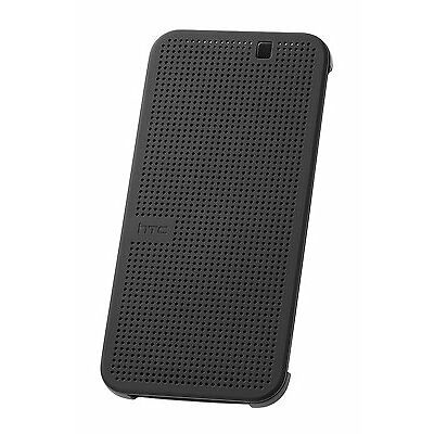 Genuine HTC Dot View Ice Premium Flip Hard Case Cover for HTC One M9 Gray/ blue