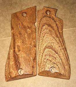 Star BM BKM Texas Mesquite Wood CNC Pistol Grips | eBay