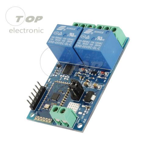 5V 2Ch Bluetooth Relay Module Intelligent Home Mobile APP Remote Control Board