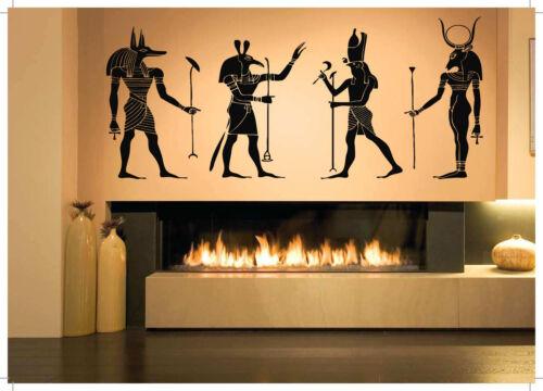 Wall Sticker Egyptian Gods Pharaohs Vinyl Mural Decal Decor ZX1009