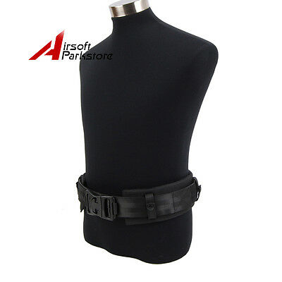 Tactical Hunting Security Duty Belt With Waist Protection Pad 1000D Nylon Black