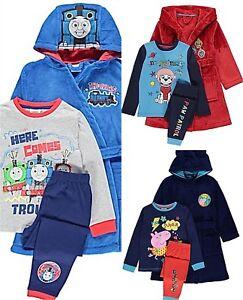4c7a0052a Boys Character Dressing Gown   Pyjamas Set Hooded Fleece Robe 2-7 ...