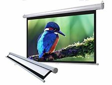 "100"""" 16 9 Home Movie Manual Projection Screen Pull Down Projector Matte 169"