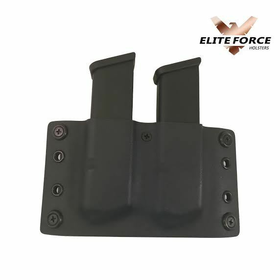 Springfield Armory 1911 KYDEX DOUBLE Mag Pouch OWB MAGAZINE POUCH 45 CAL