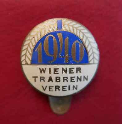 1940 Wk-2 Wtv Wiener Trabrenn-verein #59 Emailliertes Knopflochabzeichen 25mm
