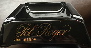 POL ROGER CHAMPAGNE ASHTRAY USED LARGE BLACK OPALINE USED - GODS OWN, United Kingdom - POL ROGER CHAMPAGNE ASHTRAY USED LARGE BLACK OPALINE USED - GODS OWN, United Kingdom