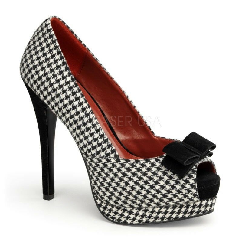 PinUp Couture High-Heels Pumps Bella-11 Houndstooth