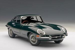 1-18-Autoart-1961-Jaguar-E-Type-Coupe-Series-i-3-8-Verde-con-Metal-Cable-Hablo