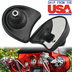 Chrome Batwing Fairing Mount Mirrors For Harley Touring Electra Glide 2014-2016