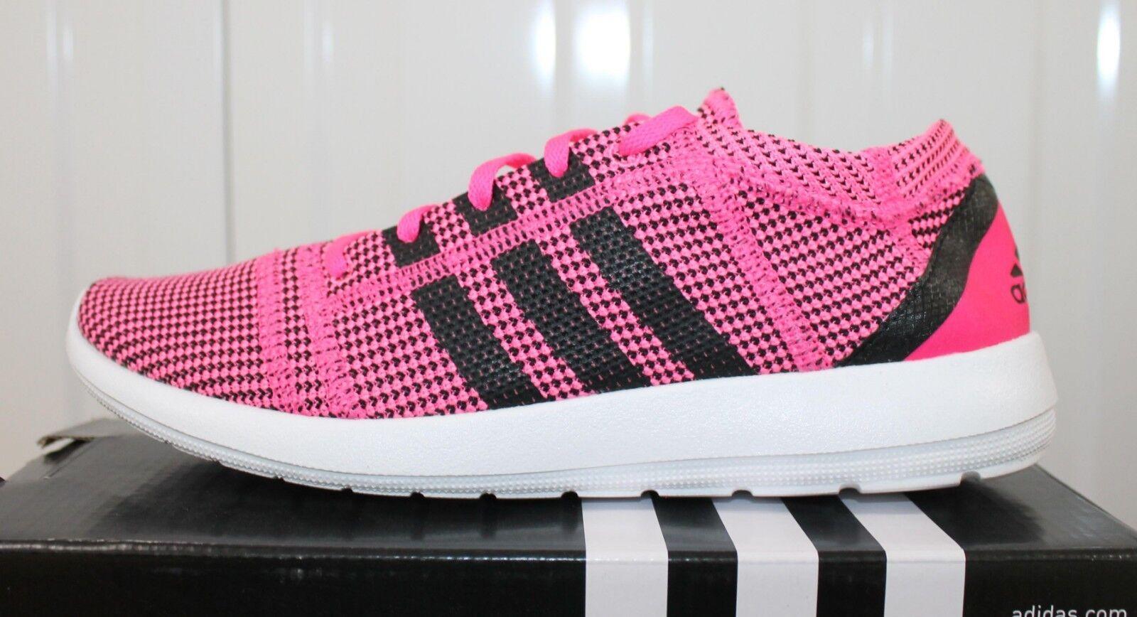 Womem'S Adidas Element Refine Tricot Rose Noir Jogging Running Trainers M18917