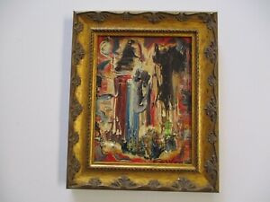 NORMAN CARTON OIL PAINTING MID CENTURY MODERN ABSTRACT EXPRESSIONISM 1950'S ART