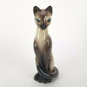 Vintage Cat Figurine Tall Siamese Brad Keeler 969 California Ceramic 12in