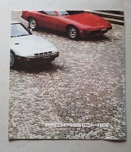 Porsche-924-924-Turbo-911-SC-928-depliant-inglese-originale-brochure-auto
