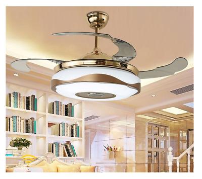 36 Quot 42 Quot Bluetooth Led 7color Ceiling Fan Lamp Music