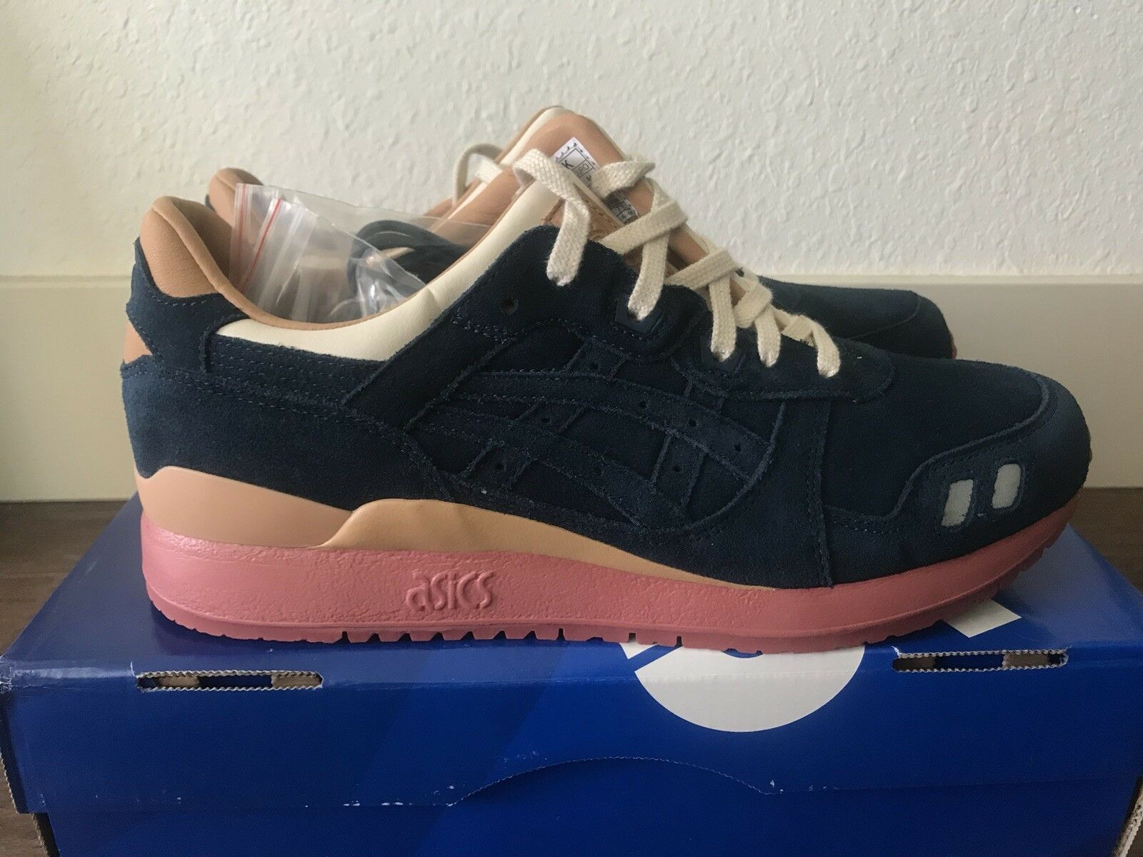 "Asics X Packer / J.Crew ""Navy Buck"" BNIB DS 10 Gel Lyte III GLIII"