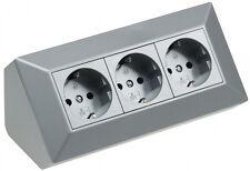 ChiliTec DELPHI 3-fach Steckdosenblock (21666) - Silber | eBay