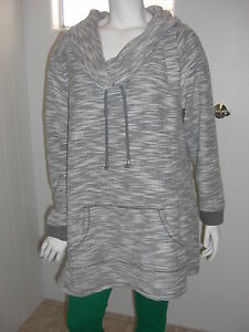 Catherine-039-s-Solid-Gray-Funnel-Collar-Pullover-Sz-0X-14-16