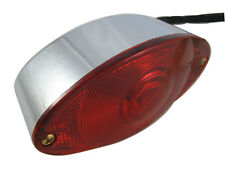 Oval Custom Chrome Stop Tail Rear Light for Motorbike Monkey Bike Trike Chopper