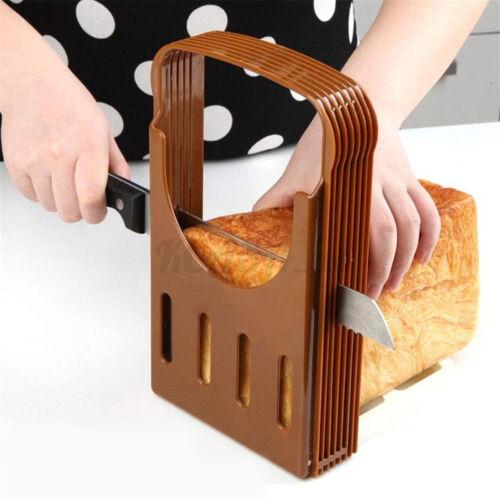 Bread Slicer Toast Cutting Loaf Sandwich Cutter Mold Adjustable Kitchen Maker