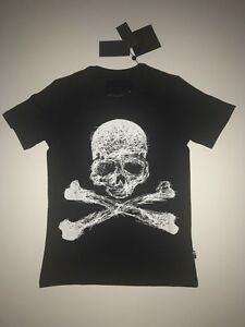 Philipp-Plein-Men-Round-Neck-T-shirt-color-Black-SS-034-Hooker-034-size-XL