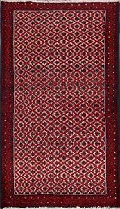 Excellent-Vintage-Geometric-Balouch-Oriental-Area-Rug-Handmade-Tribal-Carpet-3x6