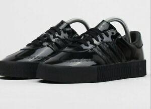 demanda Cadena oyente  Adidas Womens CG6618 Sambarose Black Patent Leather Sneakers Size 6.5 Samba  Rose | eBay